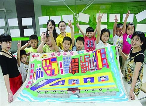 小小志愿者手绘苏锦街道公共资源地图