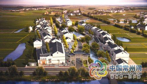 """常州建首个""""美丽村庄"""",选中西夏墅梅林村图片"""
