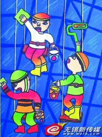 江阴小学生绘画作品印上联合国人居日历