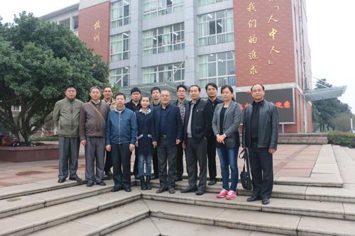 广西示范性高中高中教务代表团来玉祁主任v高中新建是高中一中图片