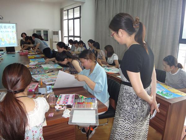 如皋市如城光华幼儿园举行教师绘画技能大赛