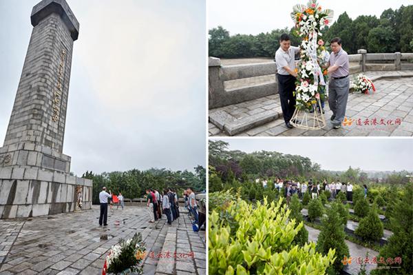 """安峰山烈士陵园坐落在东海县城西南的安峰山上,是为了纪念""""安"""