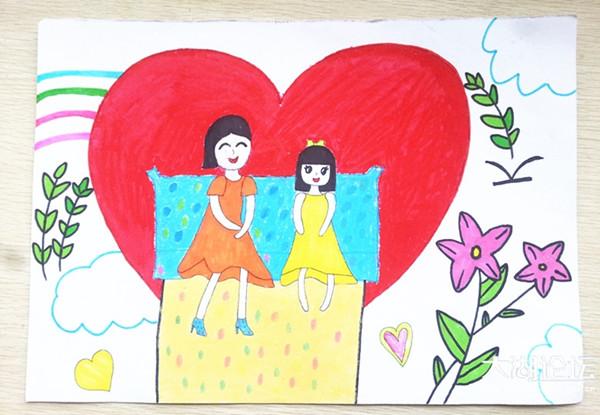 小学举办 学会感恩 共 画 母爱 手抄报 绘画比赛图片