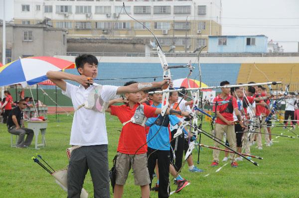 2015年江苏省青少年v国际锦标赛在清浦开弓国际级别飞镖图片