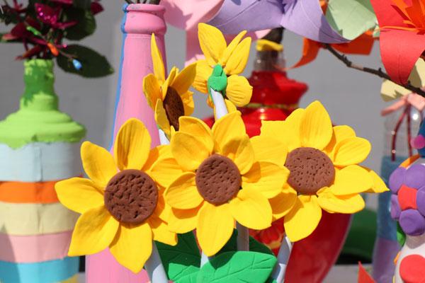 春天里的花 延安路幼儿园亲子手工创意制作比赛