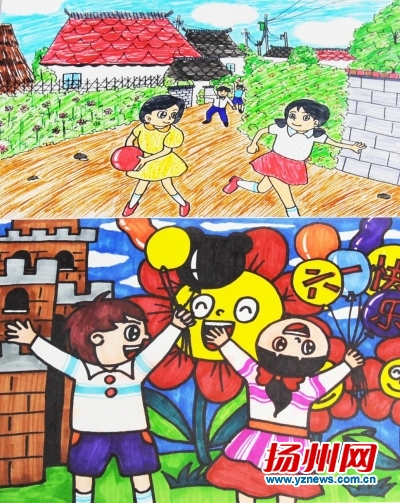 面向小学生绘画征集 父母的童年:爬树抓鱼跳皮筋